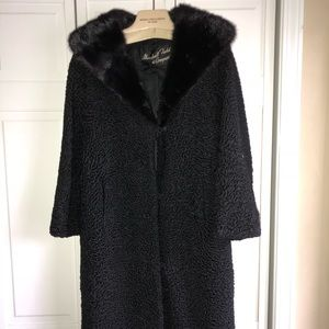 VINTAGE Marshall Fields Lambswool w/mink